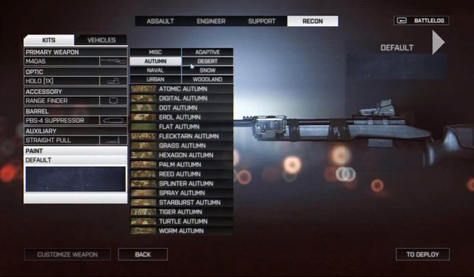 Камуфляж оружия в Battlefield 4. - Изображение 3