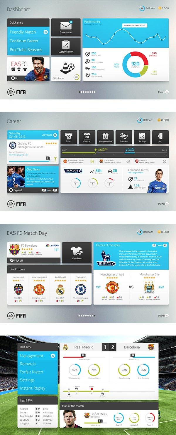 В сети появился дизайнерский прототип интерфейса FIFA - Изображение 2