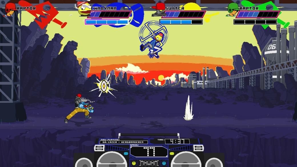 Робот сражается с бейсболистом в трейлере PC-файтинга Lethal League. - Изображение 1
