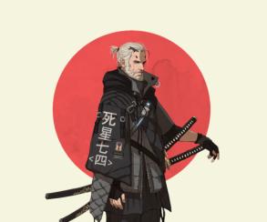 Ведьмак стал самураем! CDProjekt RED представила очень крутую фигурку Геральта ввосточном стиле