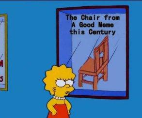 Барт Симпсон ударил Гомера стулом поголове. Идаже это стало мемом!