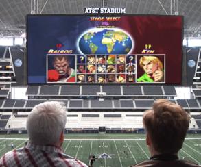 Телеведущий Конан О'Брайен сыграл в PS4 на экране стадиона