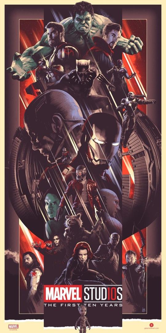 Герои излодеи: Marvel выпустила постеры кдесятилетию своей киновселенной, нобез Человека-паука | Канобу - Изображение 2
