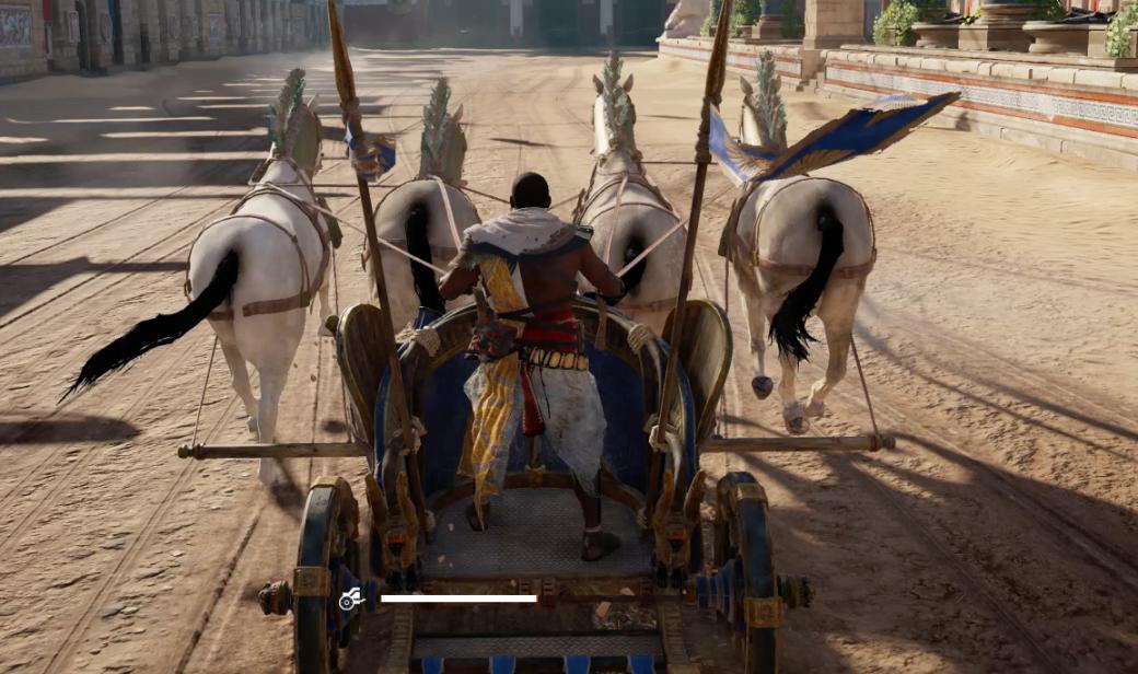 Гифка дня: резкое торможение и полет лошадей в Assassin's Creed: Origins   Канобу - Изображение 2620