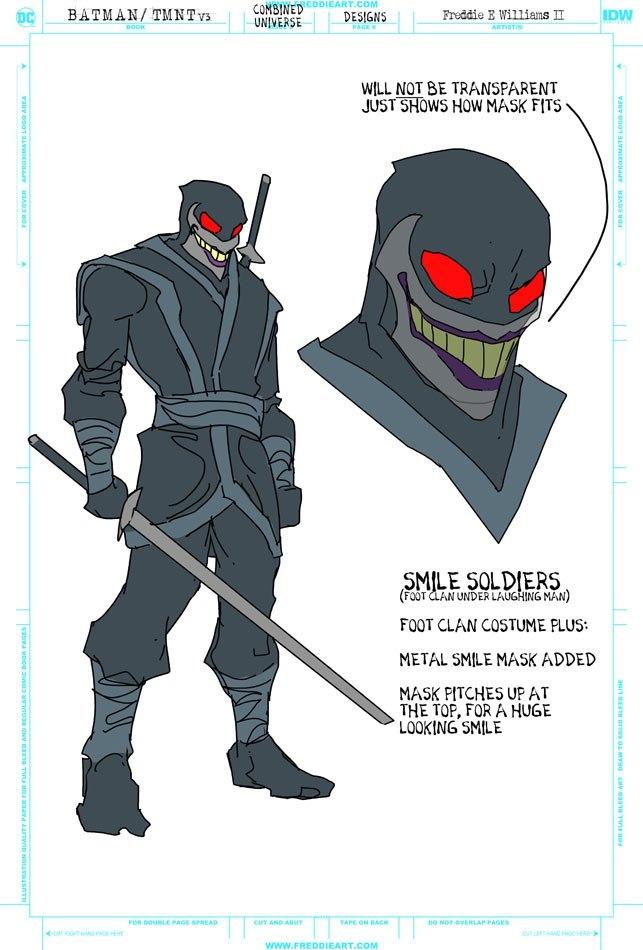 Втретьем кроссовере Черепашек-ниндзя иБэтмена появятся гибриды героев. Например, Найтвинг-Леонардо   Канобу - Изображение 7268