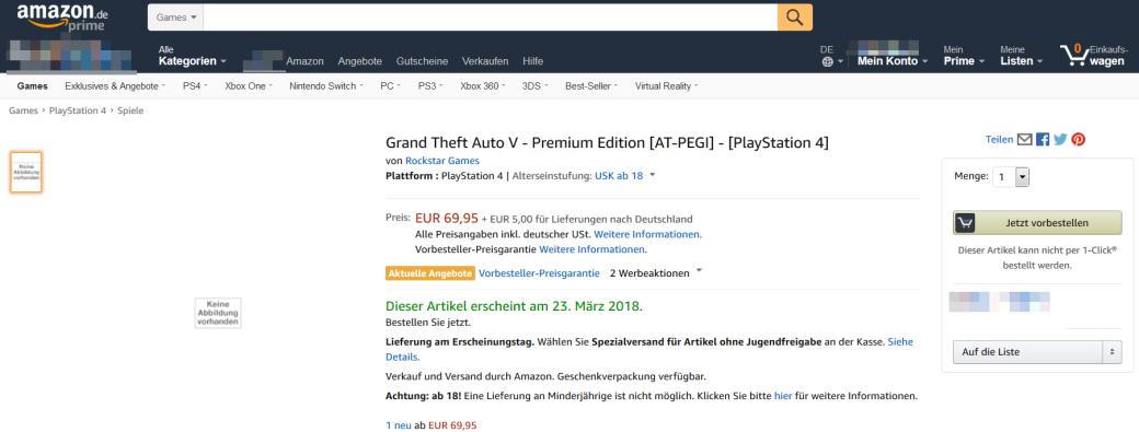 Премиальное переиздание GTA 5 заметили на Amazon. Rockstar все мало! | Канобу - Изображение 0