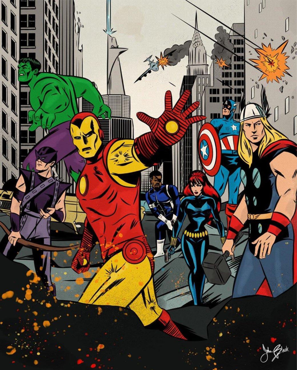 Фанат Marvel рисует знаменитые сцены из фильмов в стилистике классических комиксов  | Канобу - Изображение 8