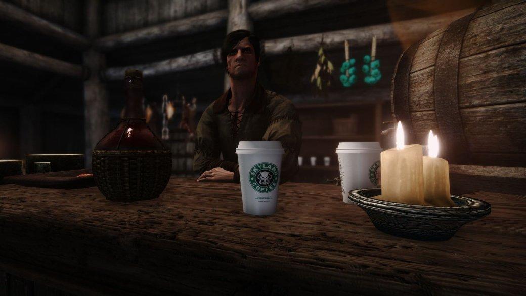 После «Игры престолов» публика стала требовать мода для Skyrim скофейным стаканчиком. Авот ион! | Канобу - Изображение 1