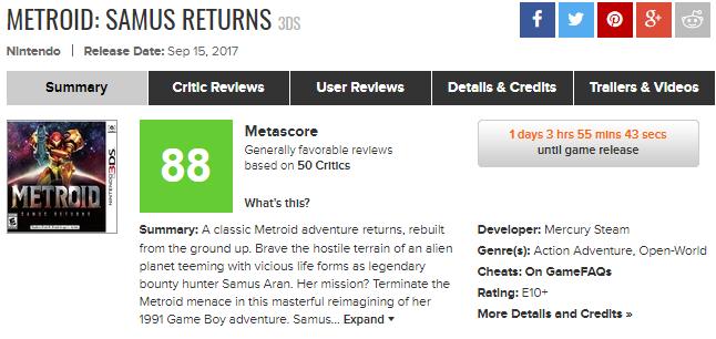 Что критики думают про Metroid: Samus Returns. Возвращение удалось?. - Изображение 1