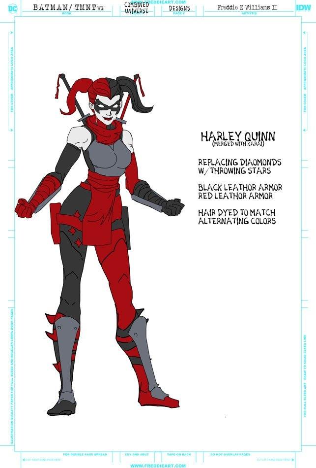 Втретьем кроссовере Черепашек-ниндзя иБэтмена появятся гибриды героев. Например, Найтвинг-Леонардо   Канобу - Изображение 7266