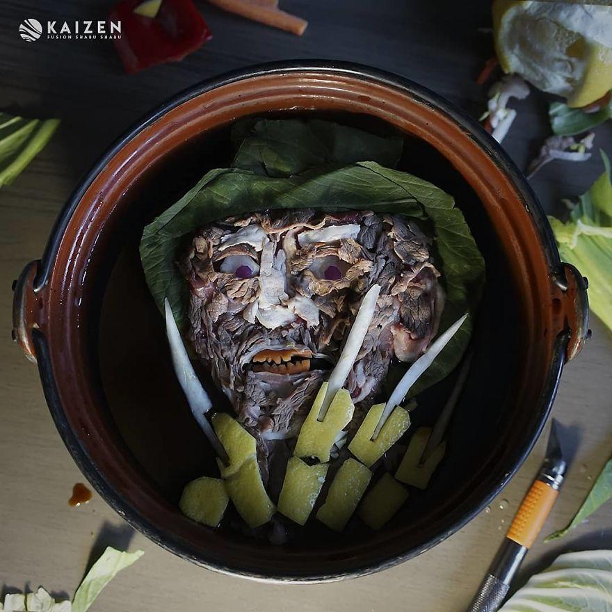 Художница сделала портреты монстров из ужасов из обычной еды   Канобу - Изображение 3733