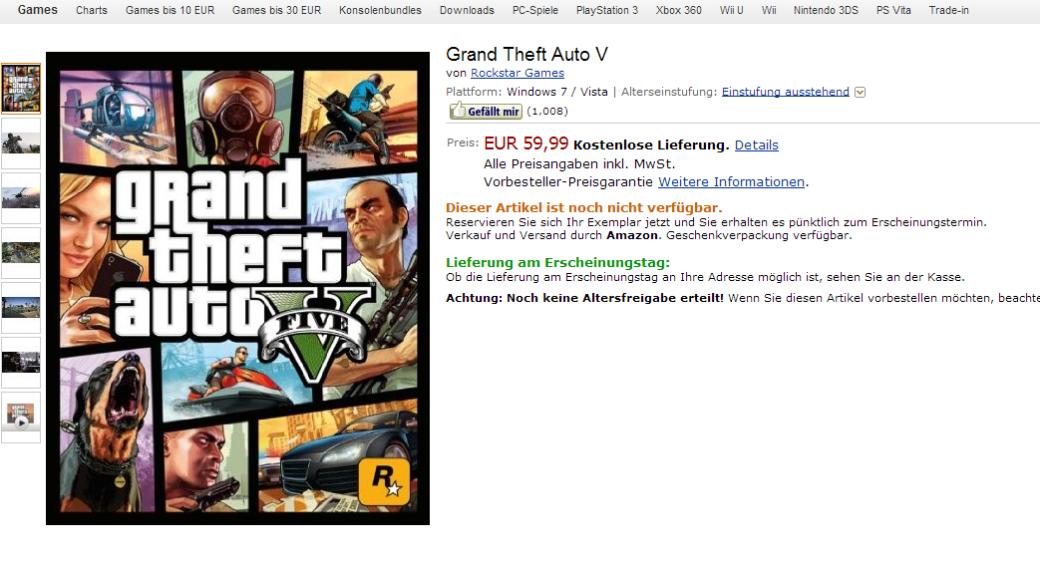 Интернет-магазин раскрыл PC-версию GTA V | Канобу - Изображение 1