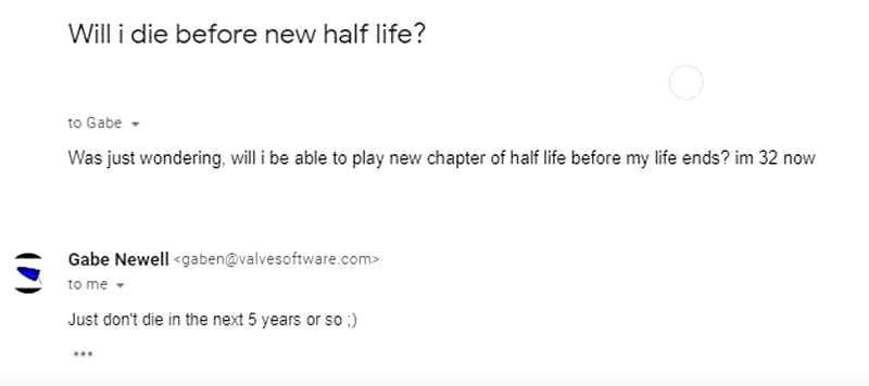 Всети появилась новость, что Гейб Ньюэлл подтвердил выход Half-Life3. Это фейк | Канобу - Изображение 9346